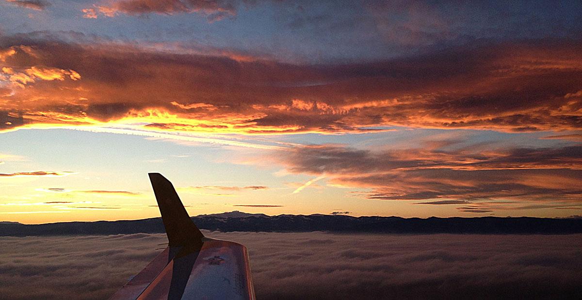 Die Sonne - Farbenspiel der Wolken