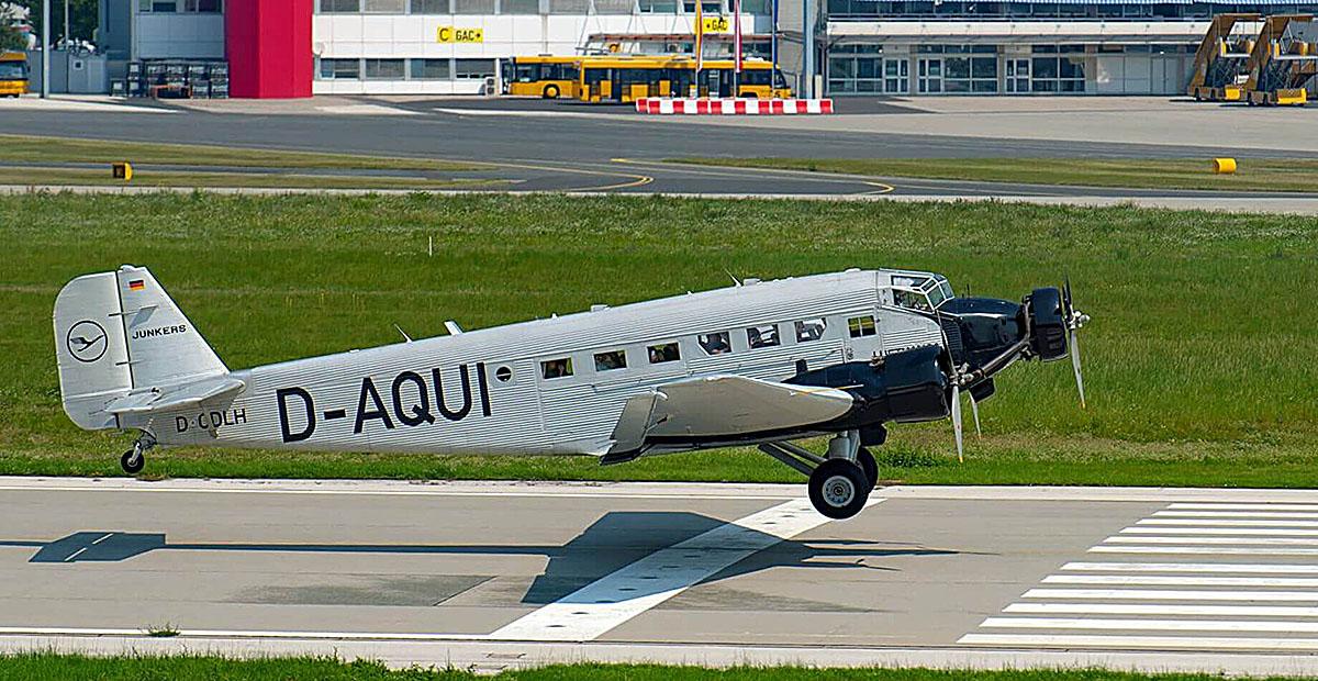 JU52 - in Klagenfurt auf Besuch - Flug über Kärnten