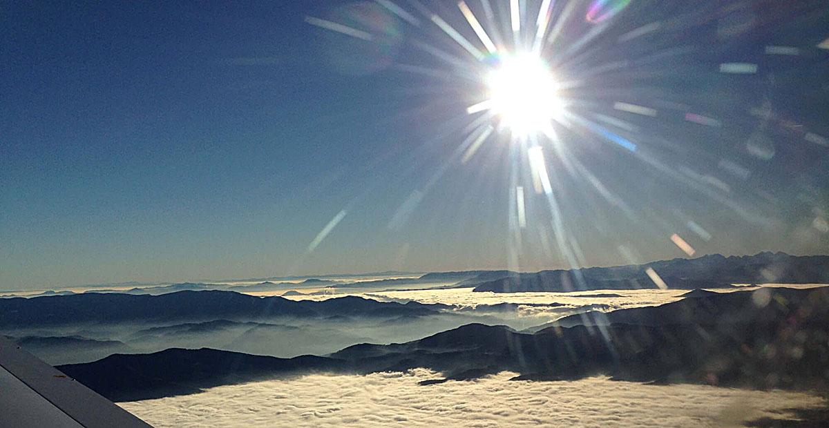 Flugerlebniss über den Wolken muß die Freiheit woll grenzenlos sein